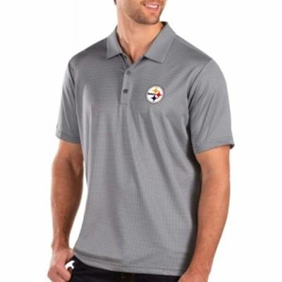 アンティグア Antigua メンズ ポロシャツ トップス Pittsburgh Steelers Balance Grey Polo
