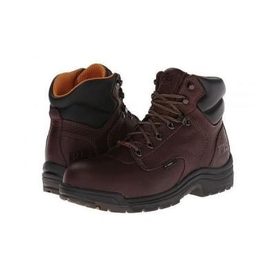"Timberland PRO ティンバーランド メンズ 男性用 シューズ 靴 ブーツ ワークブーツ TiTAN(R) Waterproof 6"" Alloy Safety Toe - Dark Mocha Full-Grain Leather"