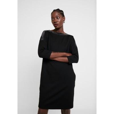 オーパス ワンピース レディース トップス WILLIS GLITTER - Jersey dress - black