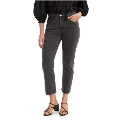 リーバイス レディース デニムパンツ ボトムス Women's 501 Distressed Skinny Jeans Cropped