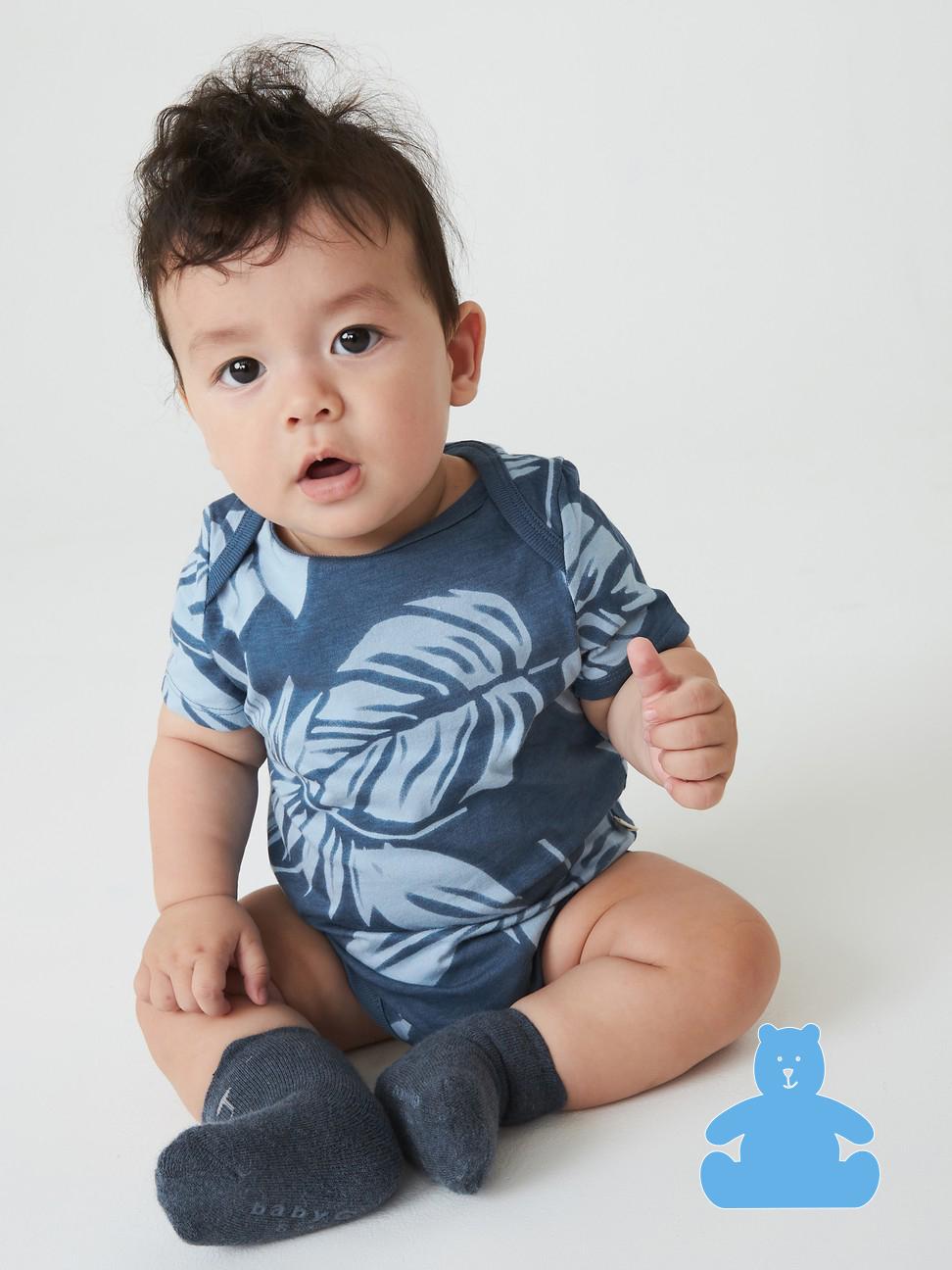 嬰兒 布萊納系列 可愛純棉短袖包屁衣