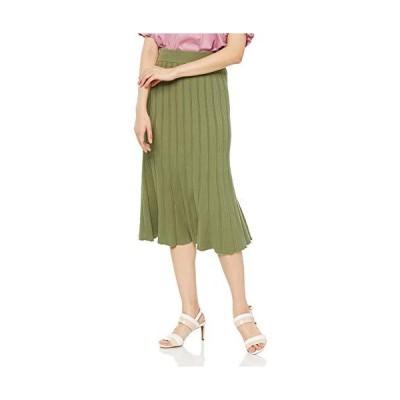 [スナイデル] フリルミドルニットスカート SWNS193322 レディース GRN 日本 F (FREE サイズ)
