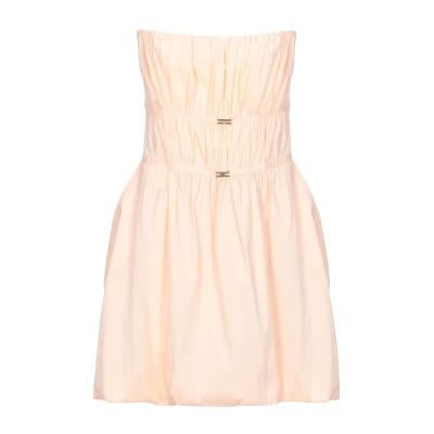 ELISABETTA FRANCHI 24 ORE ミニワンピース&ドレス ライトピンク 46 コットン 76% / ナイロン 20% / ポリウレ