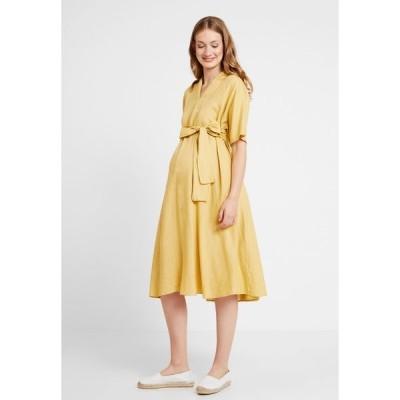 グラマラス ブルーム ワンピース レディース トップス BOW MIDI DRESS - Day dress - yellow