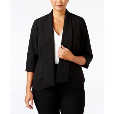 カスパー ジャケット&ブルゾン アウター レディース Plus Size Open-Front Soft Blazer Black