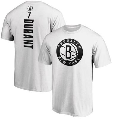 NBA ケビン・デュラント ブルックリン・ネッツ Tシャツ プレーメーカー ネーム & ナンバー チーム ホワイト