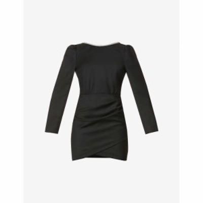 バッシュ BAandSH レディース パーティードレス ウール ワンピース・ドレス Miroir Wool Mini Dress BLACK