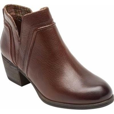 ロックポート レディース ブーツ・レインブーツ シューズ Cobb Hill Anisa VCut Bootie Tan Leather