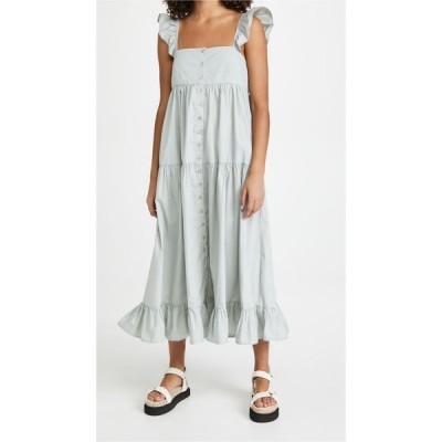 エン セゾン En Saison レディース ワンピース Aライン ワンピース・ドレス Tiered Midi Dress Sage
