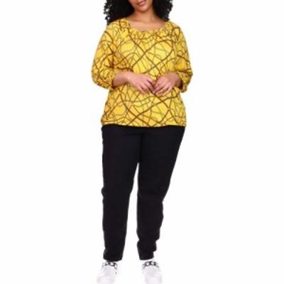 マイケル コース MICHAEL Michael Kors レディース ブラウス・シャツ 大きいサイズ トップス Plus Size Logo Chain Peasant Top Buttercu