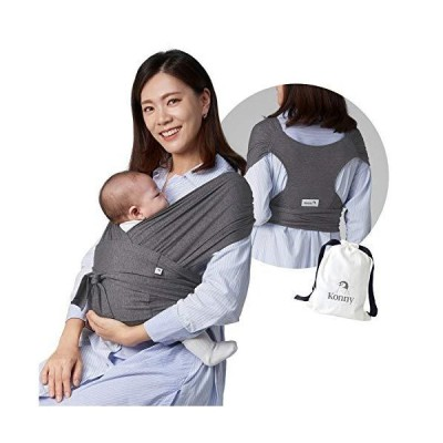 Konny Baby Carrier | Ultra-Lightweight, Hassle-Free Baby Wrap Sling | Newborns, Infants to 44 lbs Toddlers | Soft and Breathable Fabric | Se