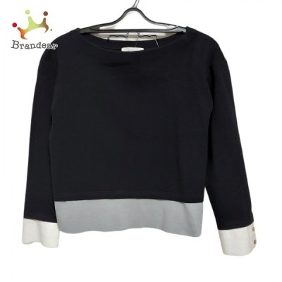 エポカ EPOCA 七分袖セーター サイズ40 M レディース - 黒×グレー×白 新着 20210307