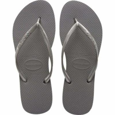 ハワイアナス Havaianas レディース ビーチサンダル シューズ・靴 slim flip flops Silver
