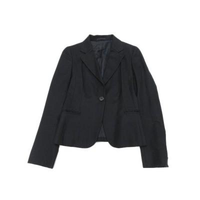 【中古】ユナイテッドアローズ UNITED ARROWS テーラードジャケット ブレザー ウール 1B ブルゾン コート 36 黒 ブラック/13 レディース 【ベクトル 古着】