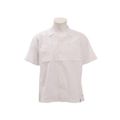 エスエーエス(SAS) ストライプ半袖シャツ SAS1858903-1-WHT (メンズ)