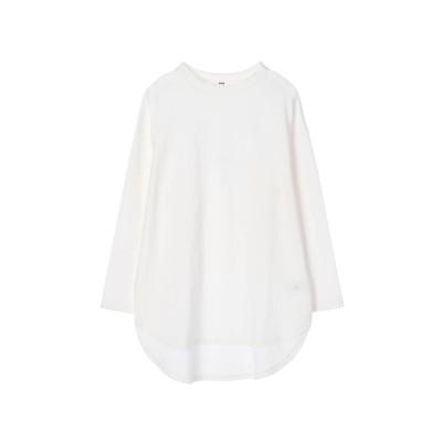 裾ラウンドロングTシャツ