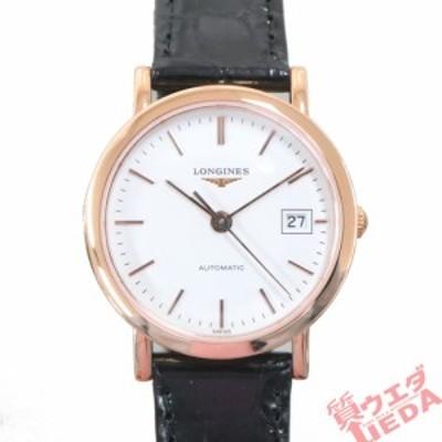 【名古屋】ロンジン エレガントコレクション L4.378.8  750PG/革 白文字盤 自動巻 レディース腕時計 新品同様