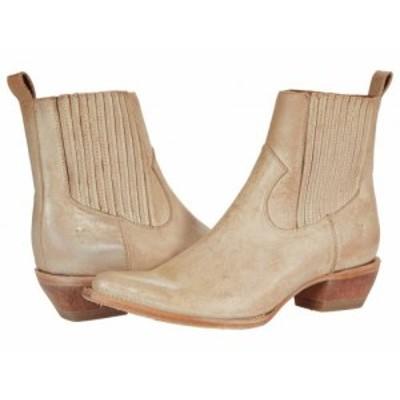 Frye フライ レディース 女性用 シューズ 靴 ブーツ チェルシーブーツ アンクル Sacha Chelsea White Full Grain Brush-Off【送料無料】
