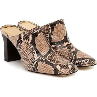 アイデ Aeyde レディース パンプス シューズ・靴 edith snake-effect leather mules Natural