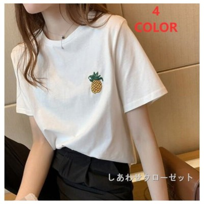 Tシャツ レディース 半袖  おしゃれ カットソー クルーネック vネック 大きいサイズ トップス カジュアル ゆったり 無地 英字 体型カバー ルームウェア