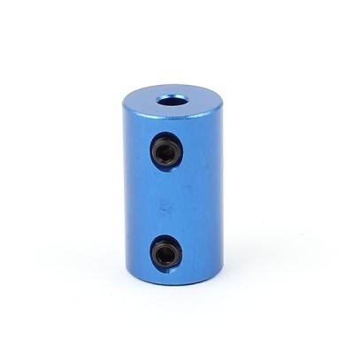 uxcell カップリングジョイント ジョイントコネクタ Lバー付き 4mm -5mm ブルー アルミ合金