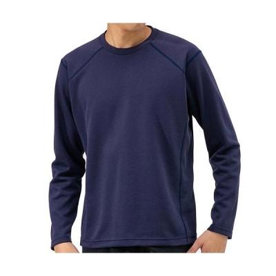 ミズノ(MIZUNO) メンズ ブレスサーモライトインナークルーネックシャツ アストラルオーラブルー B2MA9537 12 長袖 Tシャツ カジュアルウェア トップス