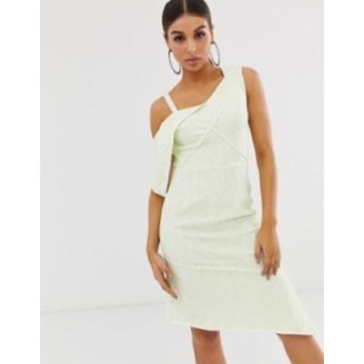 エイソス レディース ワンピース トップス ASOS DESIGN lace fold bonded midi dress Multi