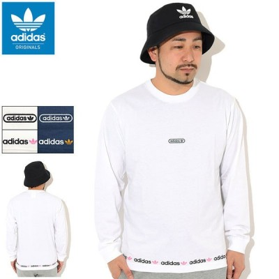 アディダス Tシャツ 長袖 adidas メンズ リニア リピート オリジナルス ( Linear Repeat L/S Tee Originals カットソー GN3880 GN3881 )