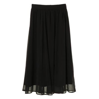 ふんわり楊柳シフォンスカート