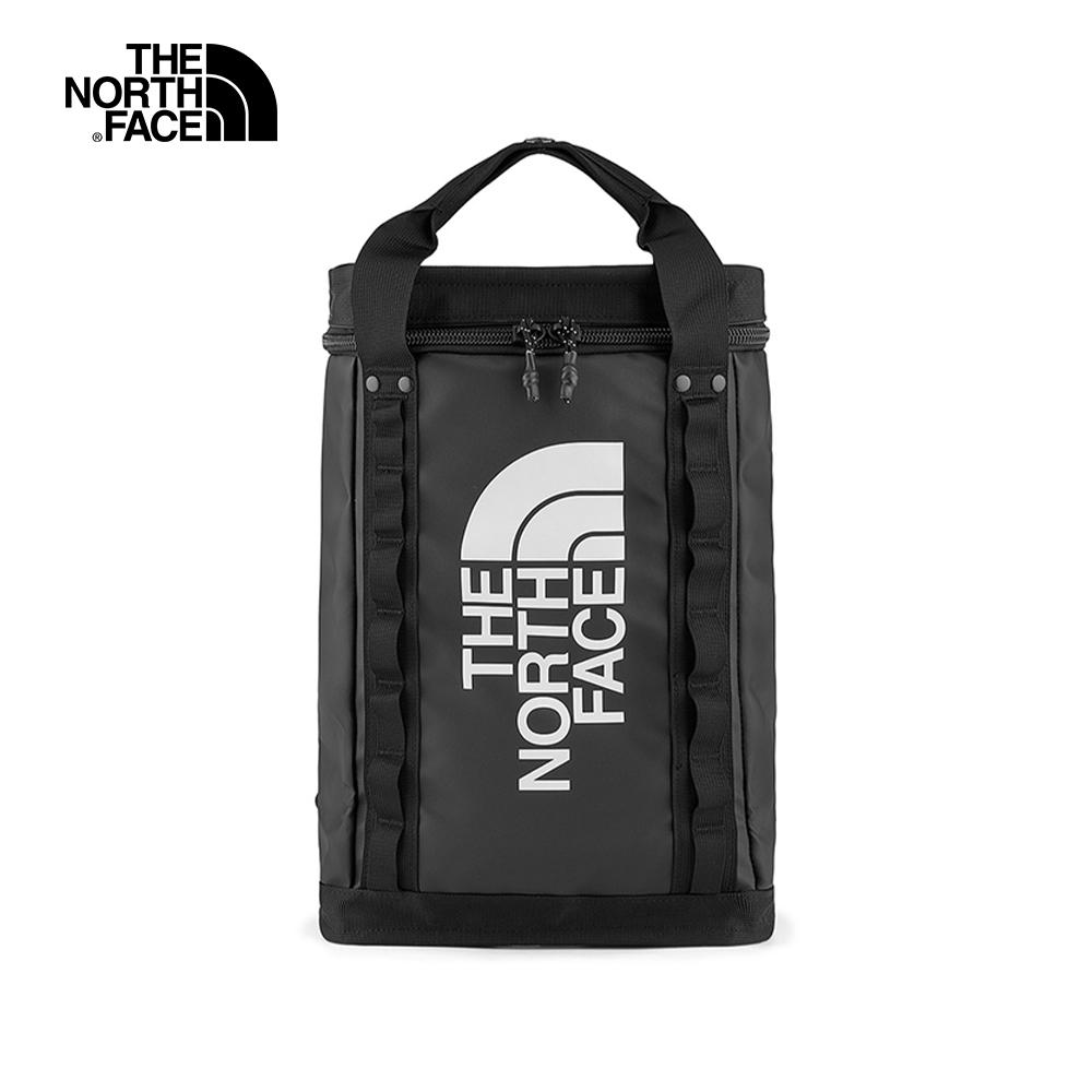 The North Face北面男女款黑色箱型休閒後背包 3KYVKY4