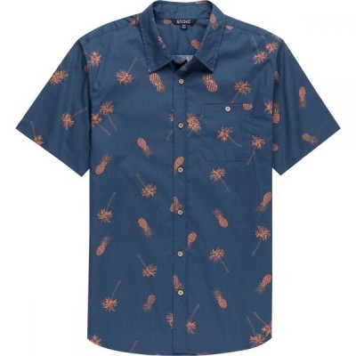 ストイック Stoic メンズ 半袖シャツ ボタニカル柄 トップス Palm Leaf Print Short - Sleeve Button - Down Shirt Multi