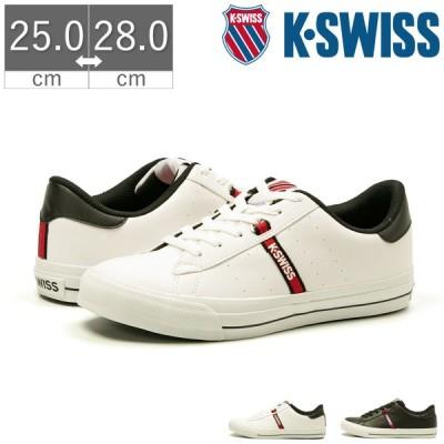 K-SWISS ケースイス KSL 13 S 定番 レザー ロゴ メンズ ユニセックス スニーカー シューズ 靴 ホワイト ブラック ロゴテープ