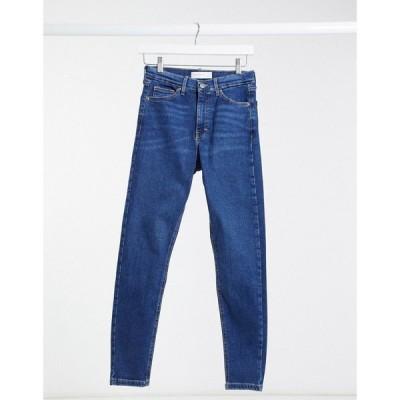 トップショップ Topshop レディース ジーンズ・デニム ボトムス・パンツ Jamie skinny jean in rich blue ブルー