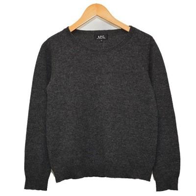 A.P.C. クルーネックニット セーター チャコールグレー サイズ:S (二子玉川店) 200805