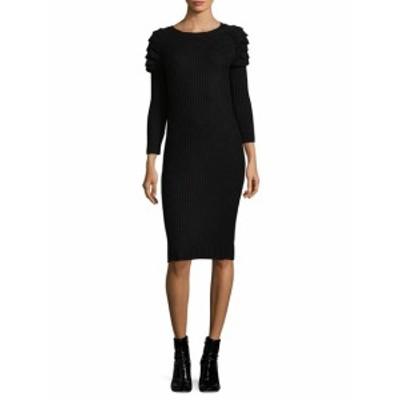 ニコールミラーニューヨーク レディース ワンピース Ruffle Shoulder Knit Dress