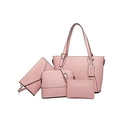Tote Bag for Women Shoulder Bags Handbags Satchel Hobo 4pcs Purse Set (Pink