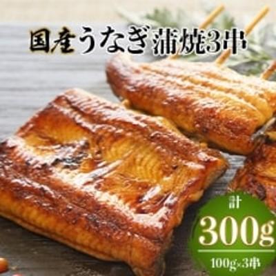 国産うなぎ蒲焼3串(有機原材料使用たれ)