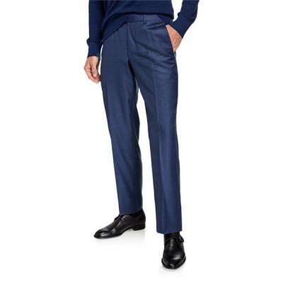 エルメネジルド・ゼニア メンズ カジュアルパンツ ボトムス Men's Twill Straight-Leg Trousers