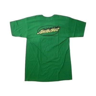 SANTA CRUZ サンタクルーズ OVAL FLAME DOT オーバル フレイムドット Tシャツ ケリーグリーン