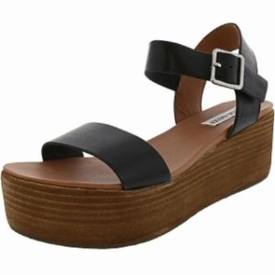Madden メデン ファッション サンダル Steve Madden Womens Heiress Leather Ankle-High Wedged Sandal