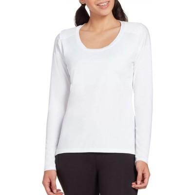 キャリー アンダーウッド CALIA by Carrie Underwood レディース トップス Mesh Racerback Long Sleeve Shirt Pure White