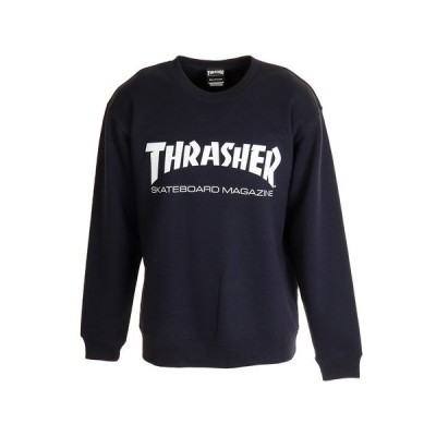 スラッシャー(THRASHER) MAG CREW TH8401NVWH-V (メンズ)