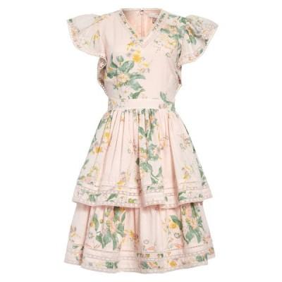 レイチェル・パーセル ワンピース トップス レディース Tiered Fit & Flare Dress Pink Frosty Small Tonal Floral