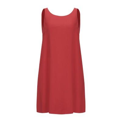 ANTONELLI ミニワンピース&ドレス 赤茶色 42 レーヨン 50% / アセテート 47% / ポリウレタン 3% ミニワンピース&ドレス