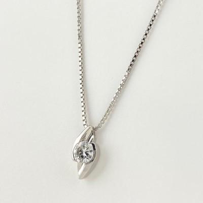 ダイヤモンド デザイン ネックレス プラチナ ペンダント ネックレス Pt850 ダイヤモンド レディース 中古