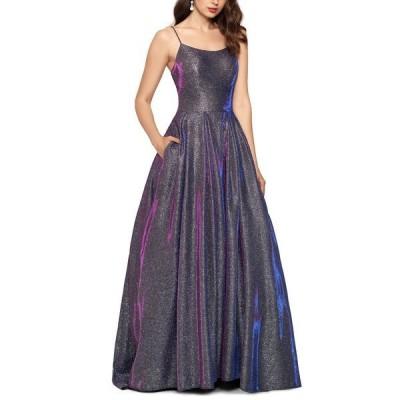 ベッツィ アンド アダム ワンピース トップス レディース Galaxy Glitter Ball Gown Silver/Pink Multi