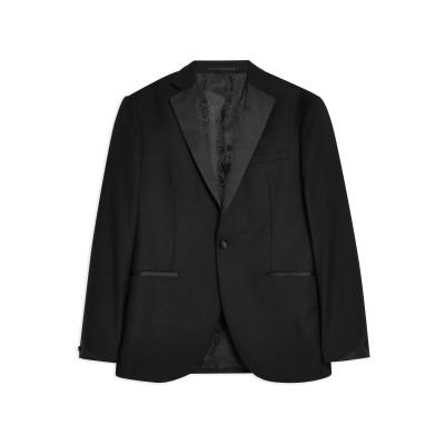 TOPMAN テーラードジャケット ブラック 34 R ポリエステル 66% / レーヨン 30% / ポリウレタン 4% テーラードジャケット