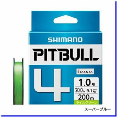 【メール便対応】 シマノ ピットブル 4 PL-M64R 200M ライムグリーン 1.0号 [PEライン]