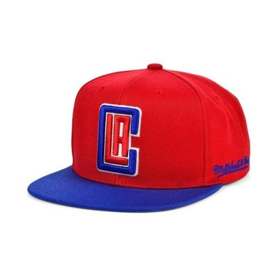 ミッチェル&ネス 帽子 アクセサリー メンズ Los Angeles Clippers The Drop Snapback Cap Red/RoyalBlue