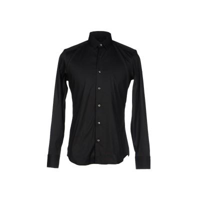 XACUS シャツ ブラック 38 コットン 78% / ナイロン 17% / ポリウレタン 5% シャツ